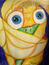 "Mall Bird, 8.5""X11"", Color Sticks"