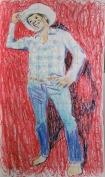 Grid Method Cowboy Drawing